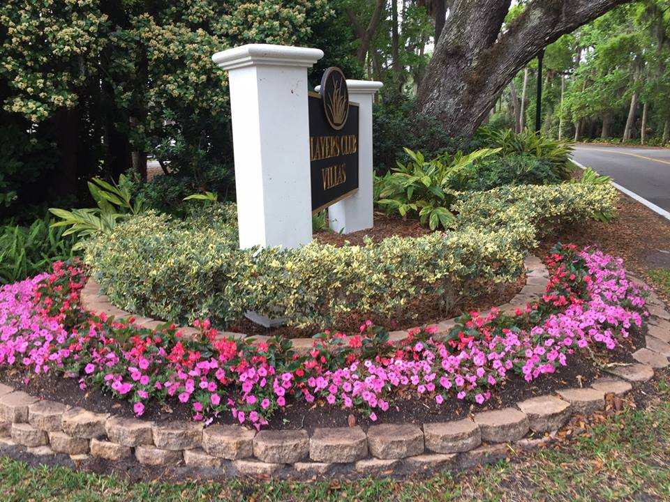 Commercial lanscape installation in Ponte Vedra Beach by Rockaway