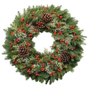 Berry Christmas wreath Jacksonville Beach
