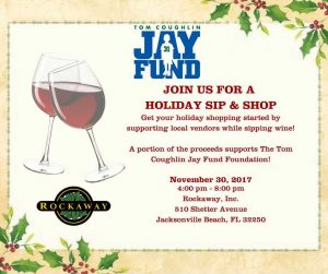 Tom Coughlin Jay Fund Foundation Holiday Sip and Shop