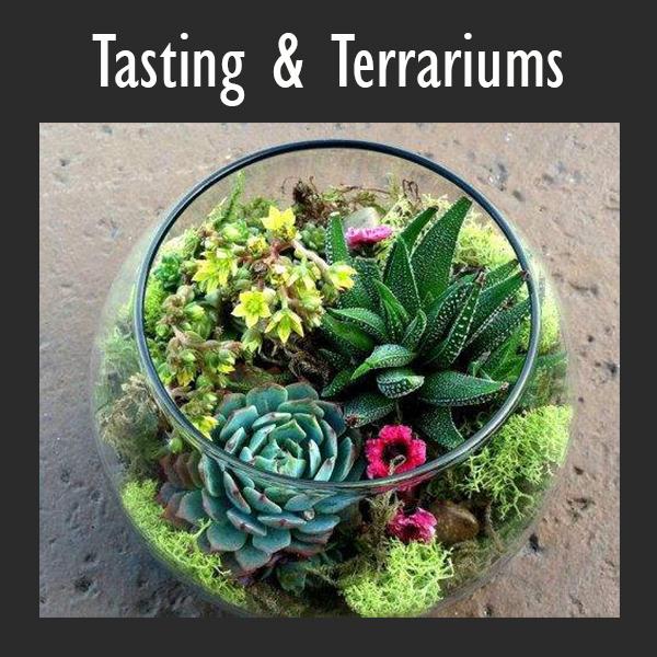 Hoptinger Tasting and Terrariums workshop at Rockaway